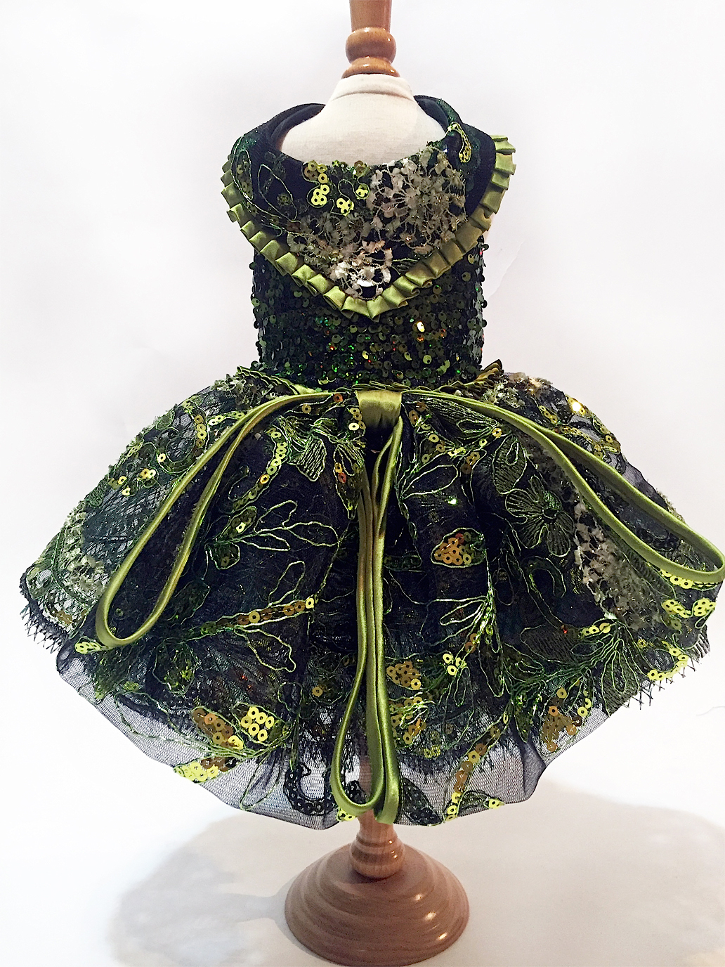 green christmas dog dress 16500 - Green Christmas Dress
